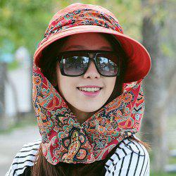 Protection UV pliant Paisley Imprimer Bucket Hat - Carmine