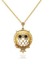 Flower Owl Shape Pendant Necklace