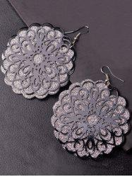 Statement Dull Polish Flower Drop Earrings