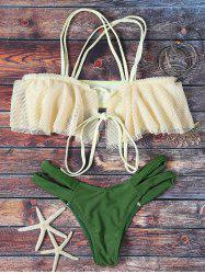 Off The Shoulder Ruffles Bikini Set