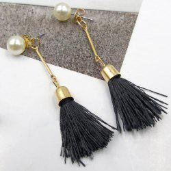 Faux Pearl Tassel Vintage Drop Earrings