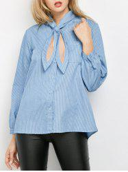 Striped Pockets Loose Shirt