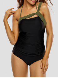 Halter Strappy Padded One Piece Swimsuit