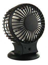 USB Rechargeable Handheld Office Mute Mini Fan - BLACK