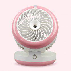 Palmtop Air Conditioner USB Mini ventilateur Humidificateur - Rose Clair