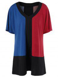 Color Block Plus Size Shift T-Shirt