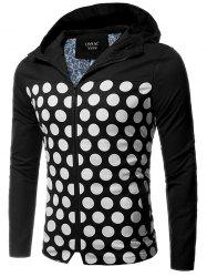 Zip Up Polka Dot Hooded Jacket
