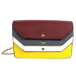Color Block Layered Cross Body Bag - COLORMIX