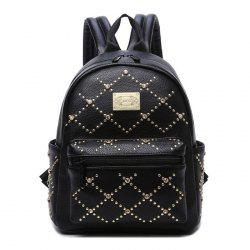 Fuax Leather Rhinestone Rivet Backpack
