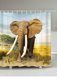 Elephant Polyester Waterproof Shower Curtain