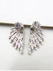Vintage Rhinestone Angel Wings Earrings