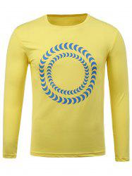 Crew Neck Long Sleeve Print T-Shirt