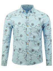 Button Up Floral Print Casual Shirt