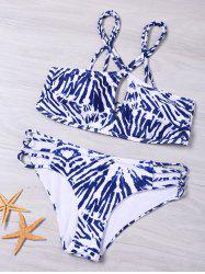 Cut Out Strappy Graphic Bikini Set