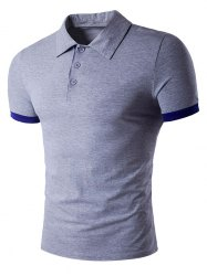 Turndown Collar Panel Design Polo T-Shirt