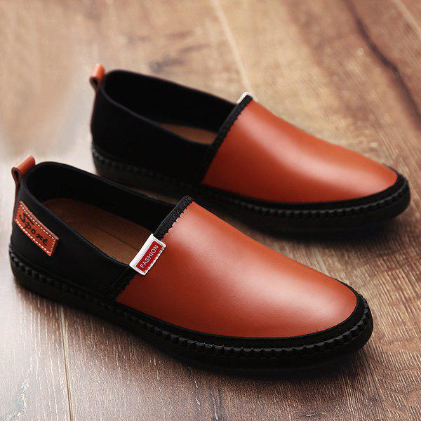Chic Slip On Faux Leather Casual Shoes