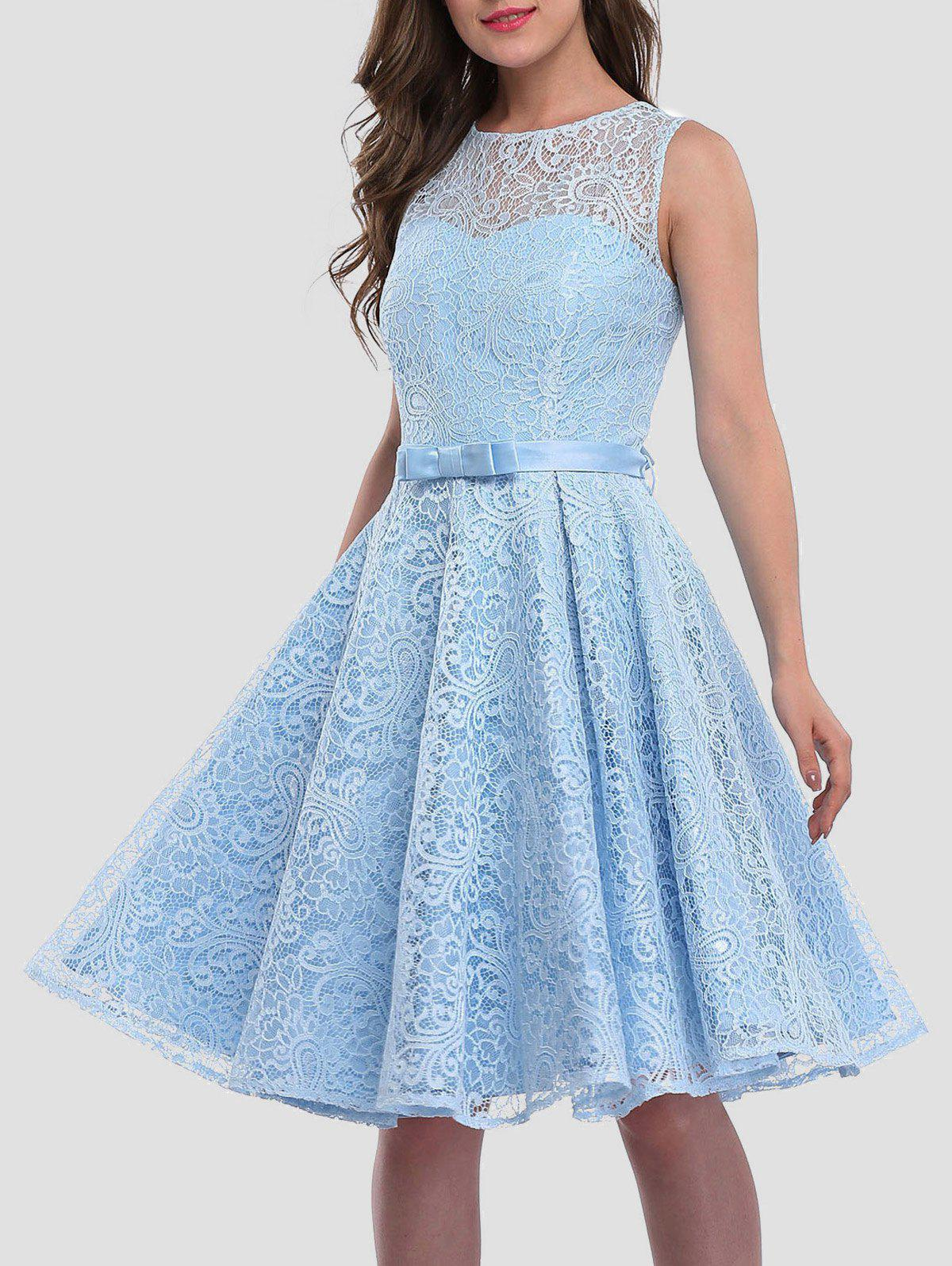 b9d21167e4d1 2019 Lace Skater Cocktail Homecoming Formal Dress