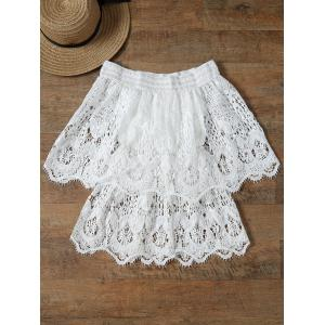Stylish Off The Shoulder Half Sleeve Lace Women's Cover-Up -