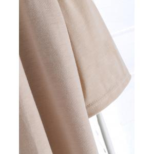 Open Front Tassel Hollow Out Women's Suede Coat - LIGHT KHAKI S