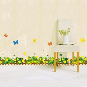 Patrick's Day Clover Skirting Line Wall Sticker