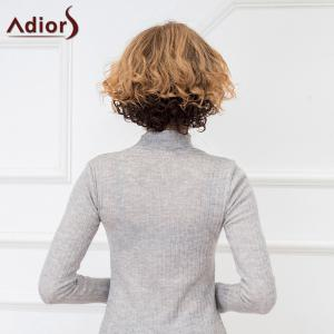 Adiors Short Cut Curly Side Bang Synthetic Wig - COLORMIX