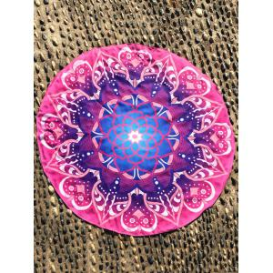 Mandala Lotus Flower Round Beach Cover Throw