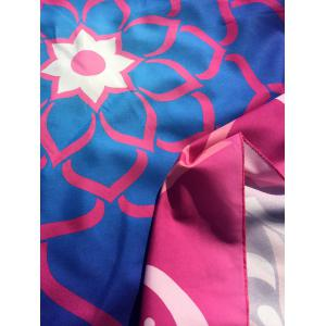 Mandala Lotus Flower Round Beach Cover Throw -