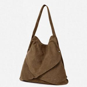 Casual Slouch Canvas Shoulder Bag -