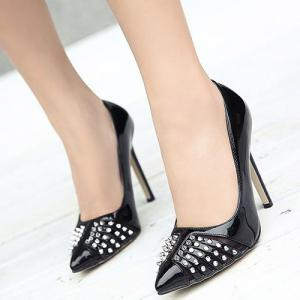 Mesh Pointed Toe Pumps -