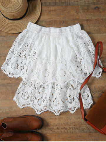 Unique Stylish Off The Shoulder Half Sleeve Lace Women's Cover-Up