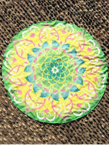Sale Mandala Lotus Flower Round Beach Cover Throw