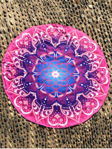 Mandala Lotus Flower Plage Round Cover Throw Rose Rouge TAILLE MOYENNE