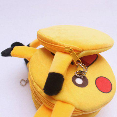 Online Cartoon Shaped Funny Character Coin Purse - YELLOW  Mobile