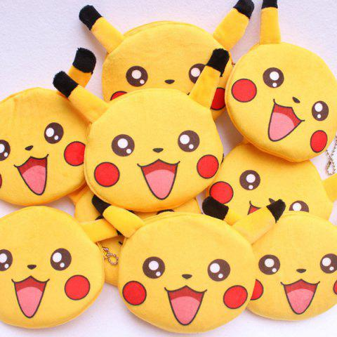 Sale Cartoon Shaped Funny Character Coin Purse - YELLOW  Mobile