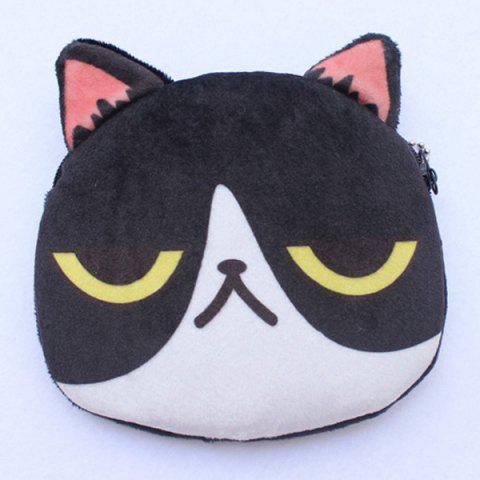 Discount Cartoon Shaped Funny Character Coin Purse - BLACK  Mobile