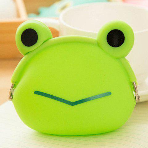 Trendy Silicone Funny Character Coin Purse GRASS GREEN