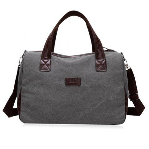 Store Cross Body Canvas Weekend Bag - GRAY  Mobile