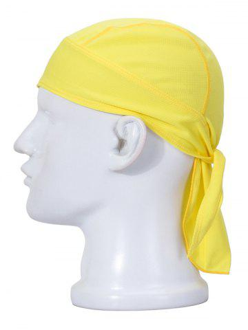 Cheap Quick Dry Banded Cycling Headscarf - YELLOW  Mobile