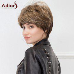 Adiors Hair Short Fluffy Straight Synthetic Fiber Cut Wig