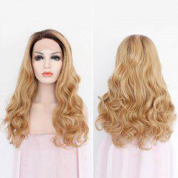 Long Side Part Wavy Lace Front Synthetic Hair Wig - COLORMIX