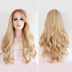 Long Side Parting Wavy Lace Front Synthetic Hair Wig