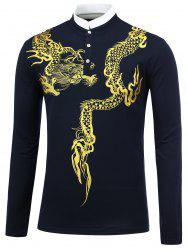 Dragon Print Long Sleeve Shirt