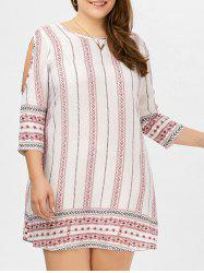 Plus Size Cold Shoulder Tunic Dress