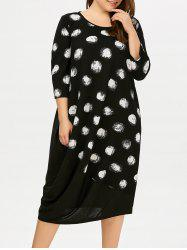 Midi Plus Size Polka Dot Dress