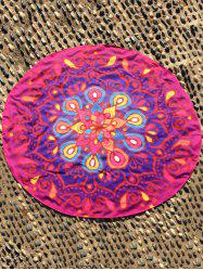Ethnique Waterdrop Ombre Round Plage Cover Throw - Rose Rouge TAILLE MOYENNE