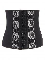 Flower Embroidery Tight Lacing Corset