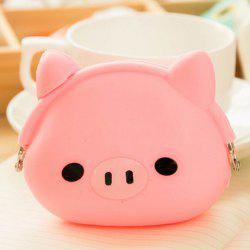 Purse Cartoon Silicone drôle Coin - Rose Clair
