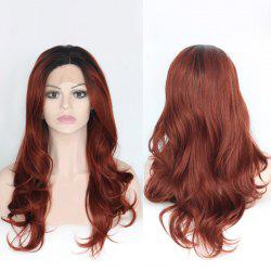 Long Wavy Lace Front Synthetic Side Part Haircut Wig