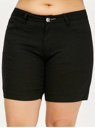 Plus Size Mini Shorts - BLACK