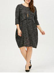 Knee Length Plus Size Casual Dress